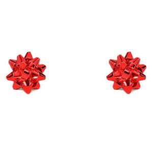 Bow Earrings - Red